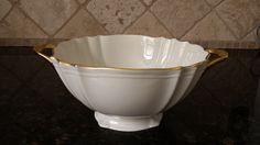 RARE Lenox China Valencia Gold Handled LARGE round bowl  MINT! by KatsVintageTreasures on Etsy