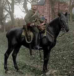 An Imperial German Army Royal Saxon Uhlan