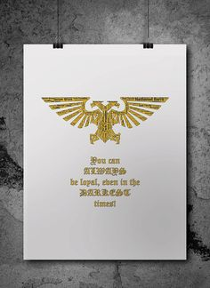 Imperial Aquila Warhammer 40K Printable Poster  by ZsaMoDesign