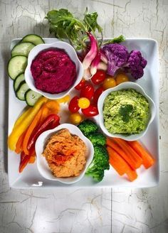 Hummus made from colorful vegetables: edamame, beets, sweet corn and jalapenos and more! via KansasCity.com