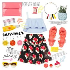 """""""Summer Brights"""" by bklana ❤ liked on Polyvore featuring New Look, Simone Rocha, Melissa, Marni, Dolce&Gabbana, Kate Spade, Acne Studios, Chen Chen & Kai Williams, Burt's Bees and Korres"""