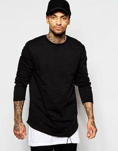 ASOS Super Longline Sweatshirt With Asymmetric Hem