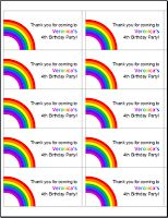 Mess For Less: Free Rainbow Party Printables