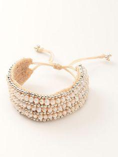 white bracelet / ShopStyle: ファッションウォーカー エベルモーション ナチュラルパールブレスレッド