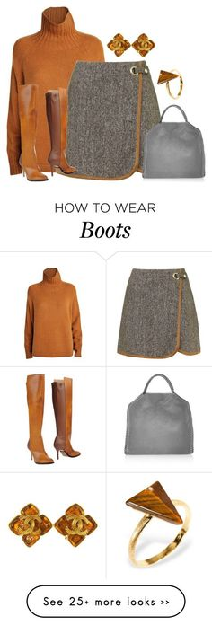"""those boots, though"" by borntoread on Polyvore featuring Sportmax, Topshop, Maison Margiela, STELLA McCARTNEY, Chanel and Ona Chan"
