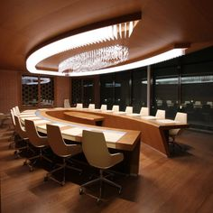 Who wouldn't enjoy having meetings in a boardroom with this #lighting?