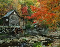 grist mill at Babcock State Park in West Virginia...what is it about a mill that is so heart-warming?