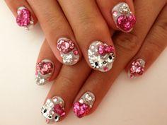 Hello Kitty Nails 3D