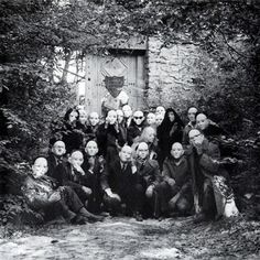 Andre Breton and his Surrealist Group at the Gates of the Desert.  Photo by Denise Bellon, 1960.