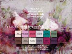 SS2015 trend forecasting on Behance