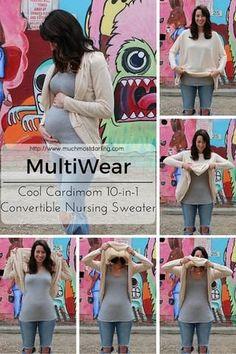 Cardimom converts fr Cardimom converts from cardigan to nursing sweater maternity fashion Convertible, Kangaroo Care, Nursing Wear, Nursing Scrubs, Nursing Tops, Maternity Sweater, Skin To Skin, Thing 1, Maternity Fashion