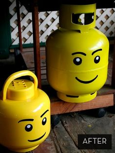 How to: Turn an Unsightly Propane Tank into a LEGO Head » Curbly | DIY Design Community