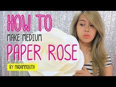 How to make medium paper ROSE by Madammouth [ มาดามเม้าท์สอนทำกุหลาบกระด...