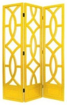 Charleston yellow 3 panel screen by Ruby Plaza...love this!