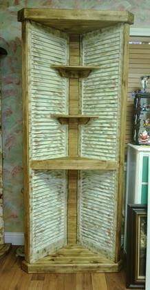 homemade shutter corner shelf