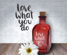 Love What You Do  8oz Laser Etched Recycled by HumbleElephant