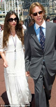Wedding number one: Andrea Casiraghi will marry heiress Tatiana Santo Domingo on 31 August 2013.