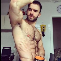 HOT N HAIRY HUNKS — #hotnhairyhunks #coffee #muscles #muscles.