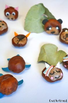 Making chestnuts, crafting ideas for children in autumn. Cool animals, like unicorn, . Fun Arts And Crafts, Diy And Crafts, Diy For Kids, Crafts For Kids, September Wallpaper, Fall Leaf Garland, Stuff To Do, Cool Stuff, Autumn Crafts