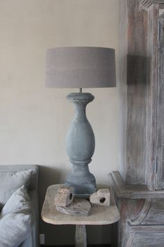 The Paper Mulberry- stone balustrade lamp