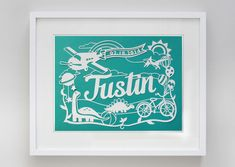Baby Boy Nursery Papercut Made to order by EpicLayers on Etsy