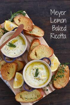 Meyer Lemon Baked Ricotta FoodBlogs.com