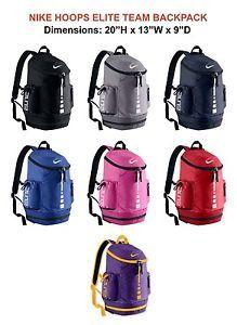 NIKE-HOOPS-ELITE-TEAM-BACKPACK-Gym-Bag-Black-Gray-Navy-Royal-Pink-Red-BA4724