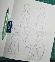 Trilling Exercises To Get Better At Drawing Ideas. Astounding Exercises To Get Better At Drawing Ideas. Body Drawing, Drawing Base, Figure Drawing, Anatomy Drawing, Drawing Sketches, Art Drawings, Drawing Tips, Drawing Ideas, Sketching