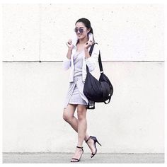 We're in love the way @melhwang styled our 'Cutabout' dress! #LoveMyHood