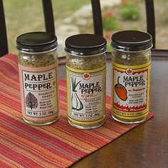 Sugarbush Farm - Maple Pepper Seasoning, $8.95 (http://www.sugarbushfarm.com/maple-pepper-seasoning/)