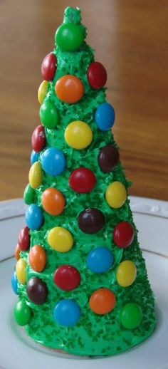 Edible and easily decorated Christmas tree Craft