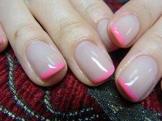 なかめぐろのネイル Nail-Common : 蛍光フレンチ