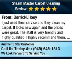 I just used their service and they clean my carpet. It looks new again and the prices were...
