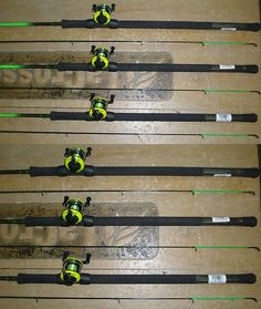 Other Fishing 384: Ht Jiggin Stick Graphite Crappie Fishing Pole Combo 10 W/ Wr-2 Reel Set Of 3 -> BUY IT NOW ONLY: $107.95 on eBay!