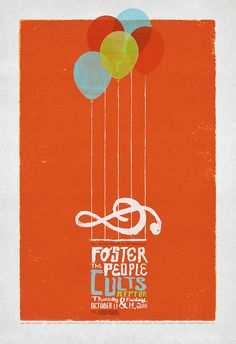 One of my favorite concert posters, great night. #fosterthepeople #reptar #cults