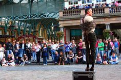 A street performer in Covent Garden. Image by Anthony Kelly / CC BY 2.0 - Anthony Kelly / CC BY 2.0