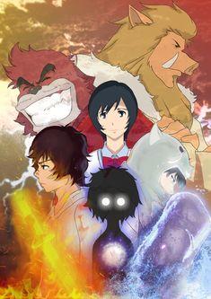 The Boy and the Beast #Kumatetsu #Kyuta #Kaede #Iozen #Ichirohiko (by Ar.Tli)