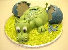 Baby Dragon Cake by *ginas-cakes on deviantART