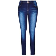 City Chic Killer Pins Skinny Jean ($45) ❤ liked on Polyvore featuring jeans, pants, bottoms, calça, frayed jeans, zipper denim jeans, blue jeans, 5 pocket jeans and faded jeans