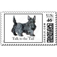 Scottie Talk to the Tail Postage Stamps  @Lisa Bendetti