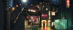 The Wolverine Concept Art by Wayne Haag The Wolverine, Jessica Biel, Hidden Art, Red State, Futuristic City, Red Light District, Art Archive, Matte Painting, Visual Development