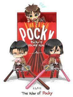 Shingeki no pocky! This is cute ::