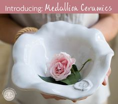 CERAMIC Medallion Medium Bowl A fresh take on a ceramics classic.  Glazed with a glowing white finish, the vibrant shape of our CERAMIC Medallion Medium Bowl is enhanced by a classic embossed medallion. Perfect for serving salads and sides. Pair it with our other CERAMIC Medallion items for a stylish serving set.  A unique gift for the bride.  Kiln-fired and hand-glazed ceramics made in Portugal exclusively for Beatriz Ball.  Ovenproof up to 450 degrees. Dishwasher, microwave and freezer…