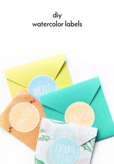 DIY Watercolor Labels - Maritza Lisa - DIY Stationery - DIY Envelopes - DIY Labels - Tutorial - How to - Silhouette Cameo Project - Silhouette Printable White Sticker Paper - Waterlogue App - Paper Goods - Crafts - Tags - Design - watercolor label tutorial