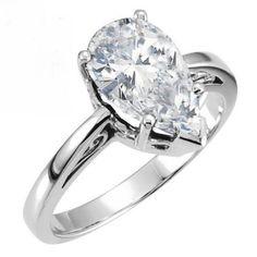 1.00 CT PEAR CUT SCROLL CARVED DESIGN SOLITAIRE ENGAGEMENT RING