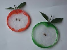 Apple Craft: clear glue, paint brush, clear plastic lids, hole punch, white, red or green tissue paper, stem with leaves (or use a brown pipe cleaner and green tissue paper cut into a leaf shape), apple seeds (or brown paper cut into seed shapes) Day 1: Glue seed to inside of lid. Looks like a petri dish. Have kids arrange seeds using a toothpick. Let dry
