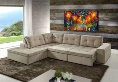 Resultado de imagem para sala com sofa marrom