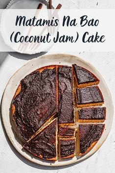 A Filipino Twist on a Coconut Caramel Cake Frosted with Coconut Jam