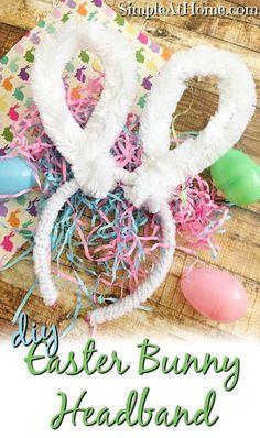 Easy DIY easter bunny headband your kids will LOVE. Simple bunny ears