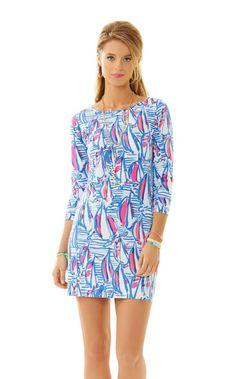 LOVE - Marlowe Boatneck T-Shirt Dress - Lilly Pulitzer Resort White Red Right Return